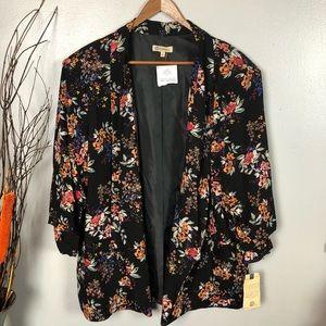 Democracy black floral jacket